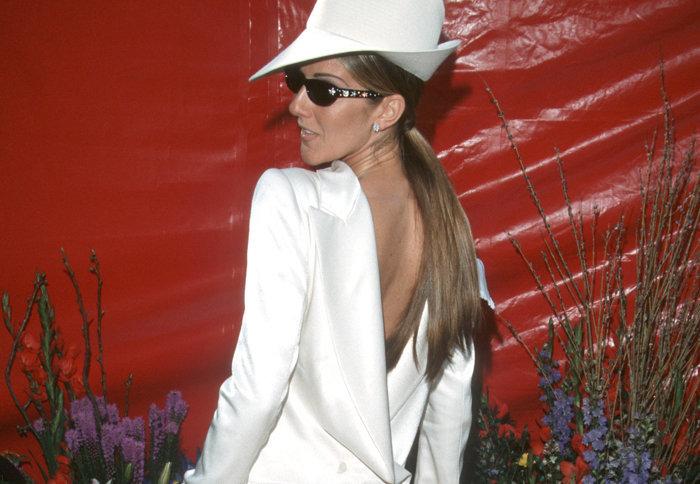 Celion Dion's Back Tux- famous dresses